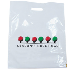SEASON'S GREETINGS PATCH HANDLE BAG